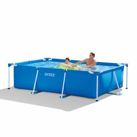 Intex 28101 piscina hinchable elevada easy set redonda 183x51 for Piscina elevada rectangular