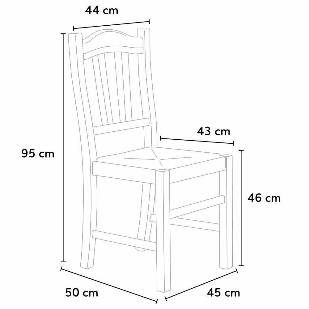 Silla de madera con asiento de paja para cocina y comedor SILVANA PAGLIA
