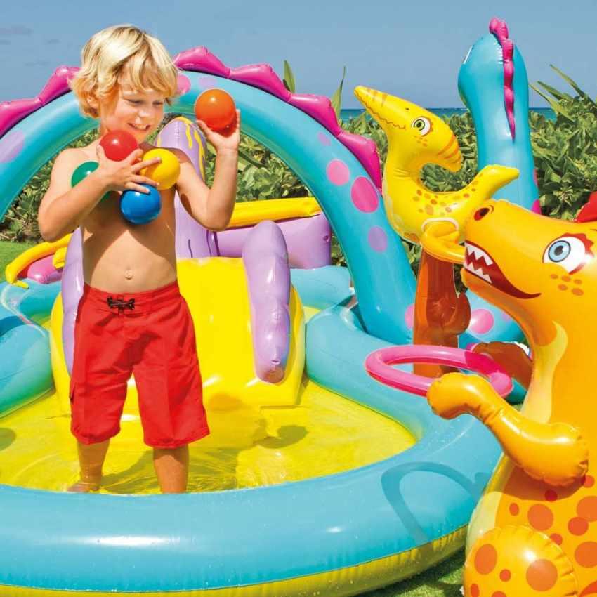 Piscina Inflable Para Ninos Intex 57135 Dinoland Play Center Juego