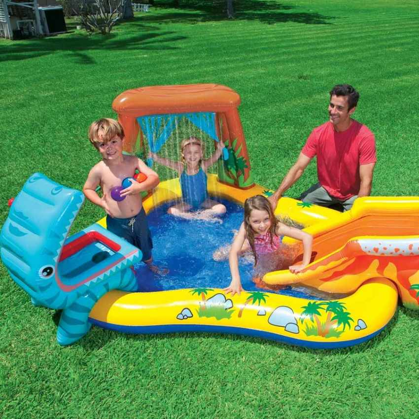 Piscina Inflable Para Ninos Intex 57444 Dinosaur Play Center Juego
