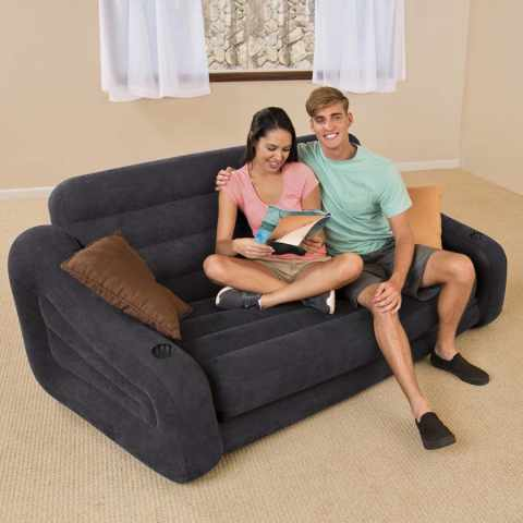 Sillones puf y sof s hinchables intex for Sofa cama inflable