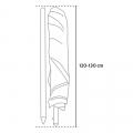 Sombrilla 220 cm Protección UV Antiviento Edición Limitada ROMA NATURE - nuovo