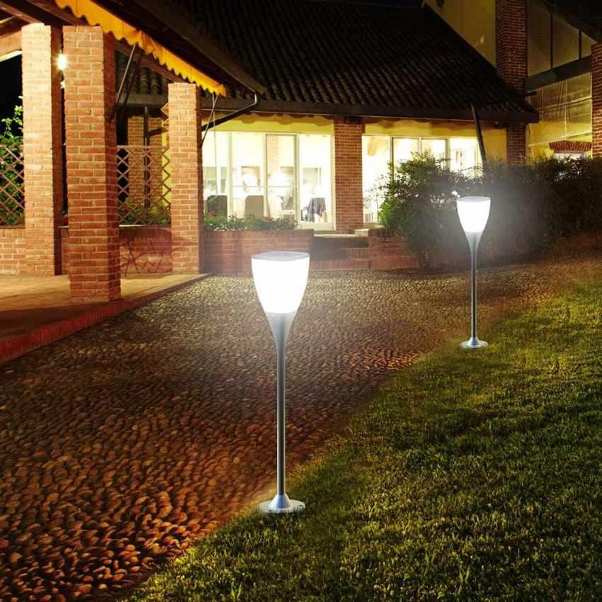 Farola energ a solar led jard n espacios exteriores sunway for Solar jardin