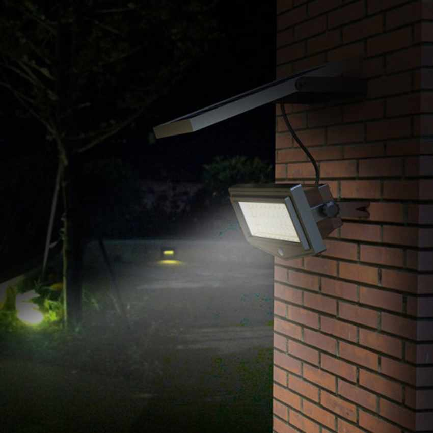 L mpara de parel luz led jard n sensor movimiento flexible new - Led para jardin ...