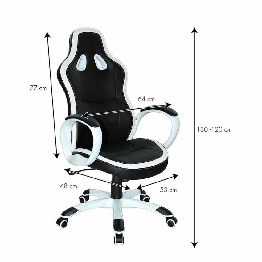Silla de oficina deportiva sillòn gaming comoda ergonomica racing SUPER SPORT - descuento