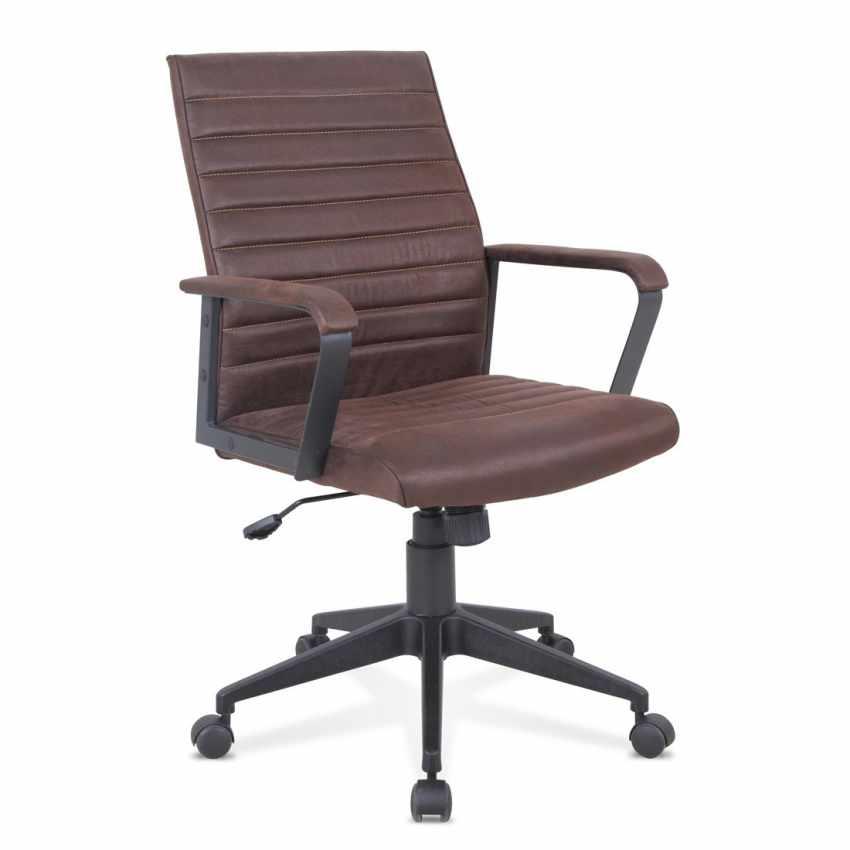 Silla oficina elegante sillón cuero artificial ergonómica LINEAR