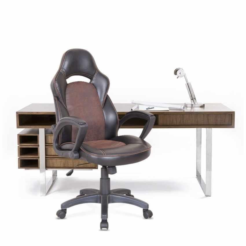 SU001RAC - Silla de oficina deportiva sillòn gaming comoda ergonomica PRO - trasparente