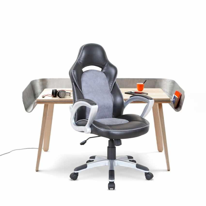 SU002RAC - Silla de oficina deportiva sillòn gaming comoda ergonomica racing EVOLUTION - rosa