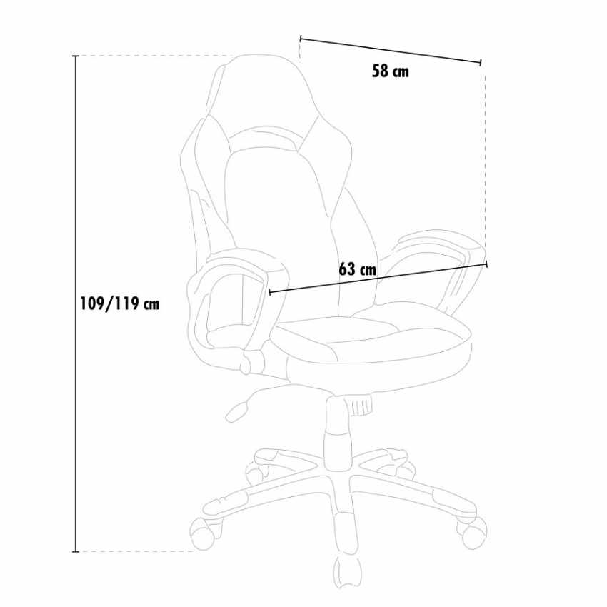 SU002RAC - Silla de oficina deportiva sillòn gaming comoda ergonomica racing EVOLUTION - offerta