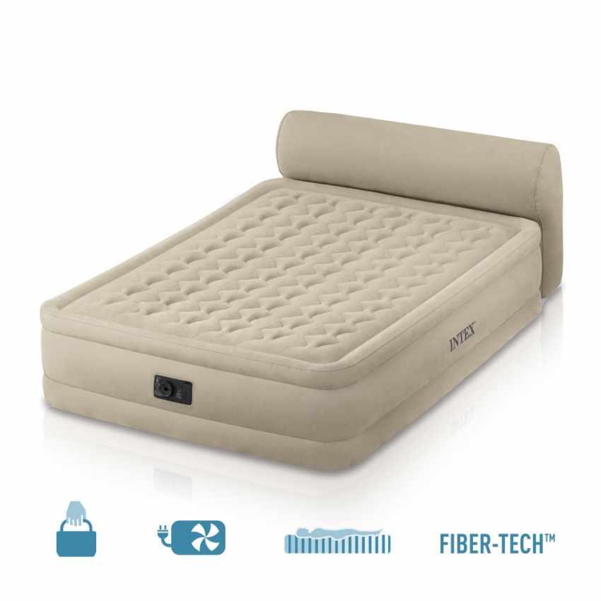 Colch n hinchable intex 64460 cama de matrimonio inflable cabecera invitados camping 152x229x46 - Intex hinchables ...