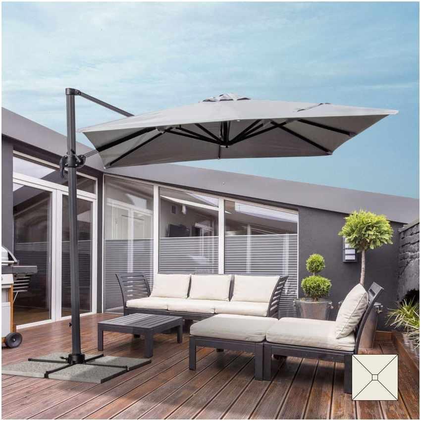 Parasol jardín 2,5 metros cuadrado excéntrico aluminio bar hotel ...
