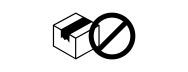 señalización paquete rechazado
